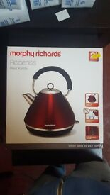 Morphy Richards Accents Pyramid Red Kettle £20 Brand New