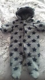 Baby boy snowsuit size 0-3 months ex Next £5.00