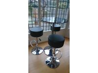 Tall Glass top Table + stools