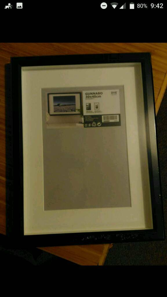 Ikea Gunnabo black frame. Brand new