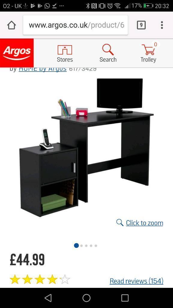 Argos Black Desk
