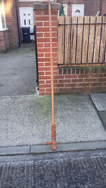brown wood 82 inch long curtain pole