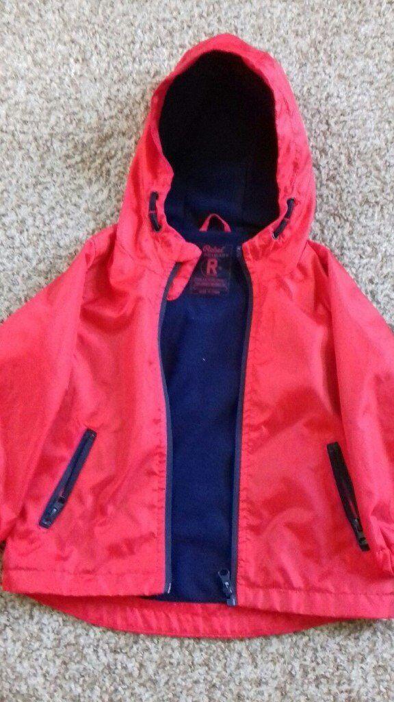 30310f80f0cb Boys Jacket Age 2 3 Years (Showerproof) RED