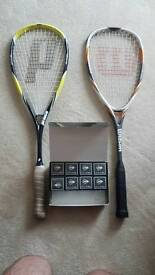 Near new squash rackets