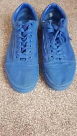 All blue vans size 6.5 UK