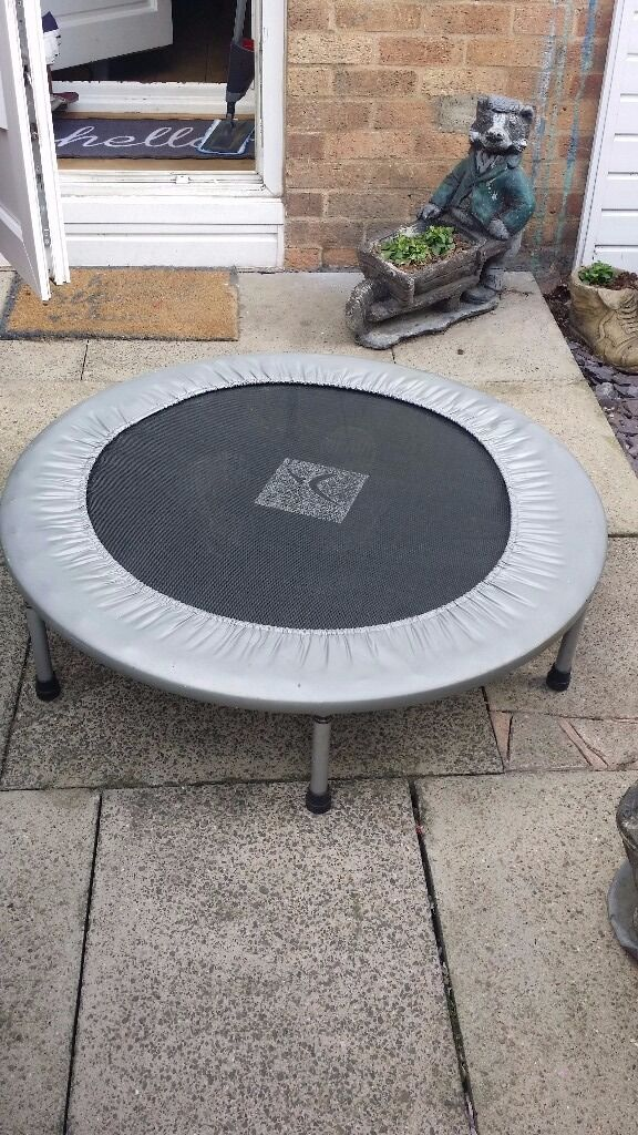 Mini fitness trampoline/rebounderin Isle of Dogs, LondonGumtree - Good condition mini trampoline/rebounder. Used twice then stored in the attic Can be stored flat (legs are removable). Durable with coiled springs. For indoor use. A great way to get fit indoors