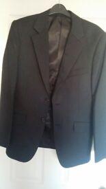 Tailored Dark Grey Black Suit Jacket 36 Regular - Excellent Condition