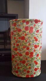 Red Rose Covered Oval Ceramic Umbrella/Stick Stand
