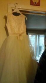 2 kids bridemaid dresses QUICK SALE NEEDED
