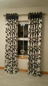 Three Pairs of Curtains - 100% Cotton & Fully Lined