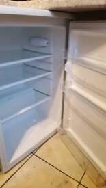 White undercounter fridge