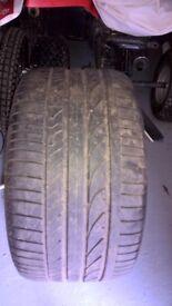 X5 rear tyre