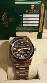 rolex air king 2016 model (eta 2836.) full rolex wave box set