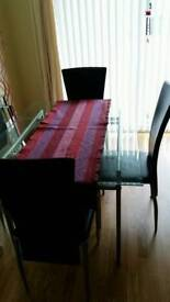 Modern Glass Dining Table Seats 4