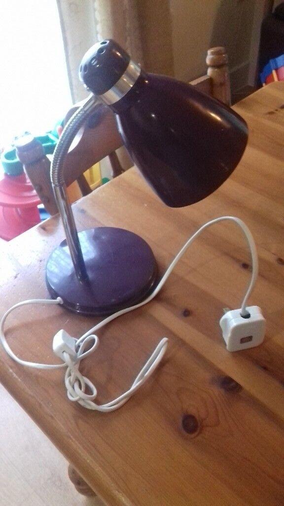 purple desk lamp