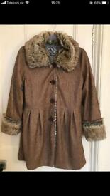 Faux fur coat size 8