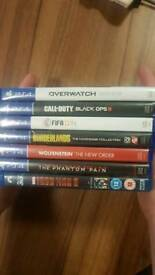 6 PS4 GAMES & 1 3D\2D BLU RAY