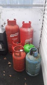 Assorted Gas Cylinders some with gas and some not