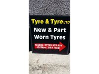 225/45/18 22/40/18 part worn tyres used tyres
