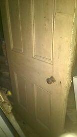 Antique Original Complete Pitch Pine Internal Doors for sale (1925 -1930)