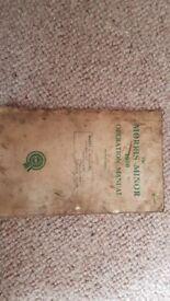 Original Morris Minor 1000 Handbook