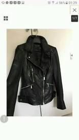 Karen Millen Black Biker Jacket 100% lamb leather