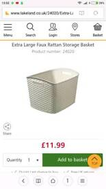Cream Curver Storage Baskets