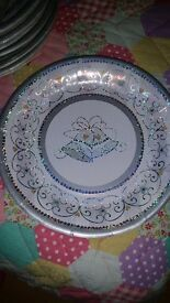 New, Sealed 56 Party Plates for Wedding or Anniversary