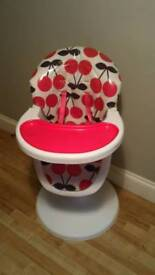 Cosatto 3Sixti Highchair Cherry Pop in excellent condition