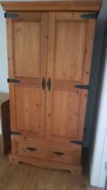 The Pier wooden double wardrobe