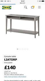 Liatorp ikea side table and wall shelf