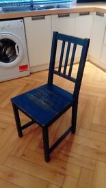 IKEA PAINTED WOODEN KITCHEN CHAIR