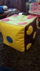 Kids room giant dice bean bag
