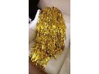 2 x gold foil door curtains
