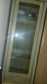 Glass cabinent £20 ono