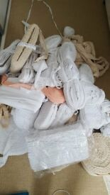 New nearly 2000 metres of vintage cotton lace trim with various sizes white and ivory colours