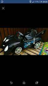 Battery powered batman car