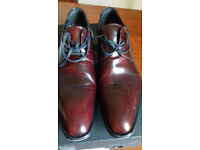 Pair brown leather Kenneth Cole men's shoes, size 8, hardly worn, bargain.