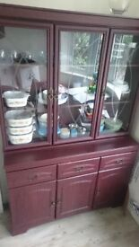 Real mahogany sideboard / display cabinet