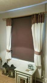 Black Out Blind, chocolate brown, adjustable size