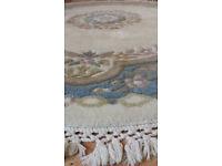 Oriental 100% wool Rug - Indian Mahal: Diameter 152cm Excellent condition