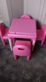 ELC PINK TABLE &, 4 Chairs