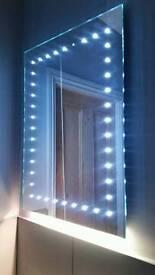 Ultra-Slim LED Bathroom Illuminated Mirror With Demister Pad & Sensor