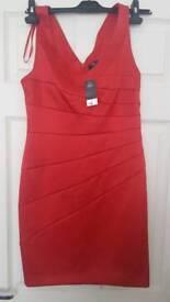F&F Size 10 Red Dress