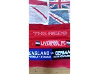 Selection of football scarfs