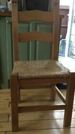 Set of 6 Pine Ladderback Kitchen Chairs *fast sale needed* *all offers considered*