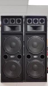 "Power Pro 3-Way Dual 12"" DJ Speakers"