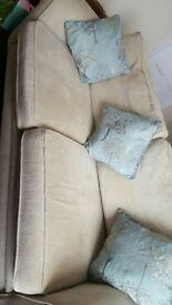 Cream/beige sofa vgc and comfy