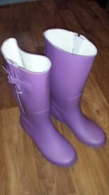 Womens (Ladies) Whitehaven size 6 Purple Wellington Welly Boots (Never Used Wellies) - Wide Fit