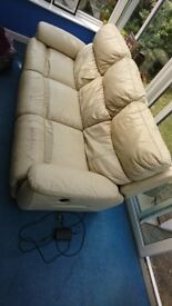 Electrical reclinable sofa and mechanical reclinable leather armchair 150£